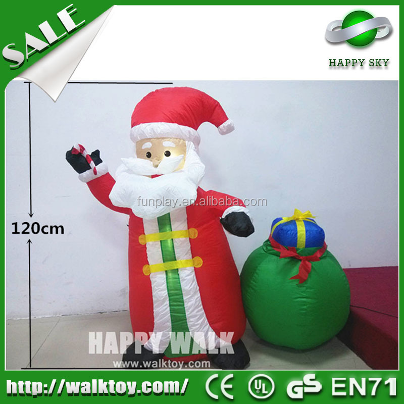 HI hot sale Christmas inflatable Santa Claus decoration product, inflatable Christmas Tree