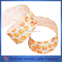 High color fastness polyester material printed ribbon holiday time led ribbon