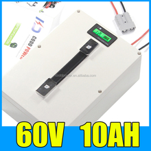 60v 10ah waterproof Lithium ion battery pack for electric bike 1000W