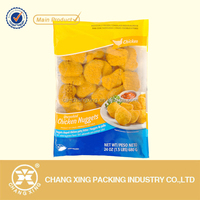 vacuum nylon plastic bag for Chicken Nuggets freezer packaging