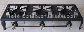 cast iron TripleHead gas burner
