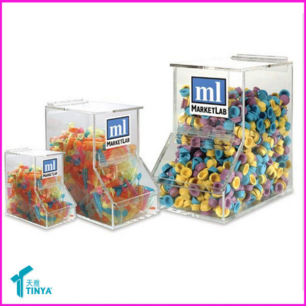 Top Selling Plastic Candy Box/ Food Organizer Box /Gravity Feed Bulk Dispenser