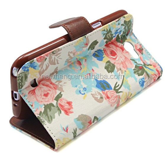 Flower Patterns Magnetic Flip Holster For iphone5s