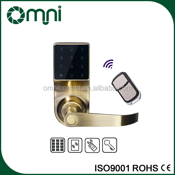 NEW Touch Screen Keypad Smart Door Lock with Hotel Smart card door lock Digital Door Lock