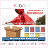 Red hooded cape,disposable plastic capes