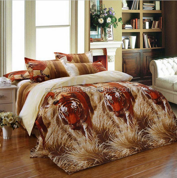 custom wolf print bedding