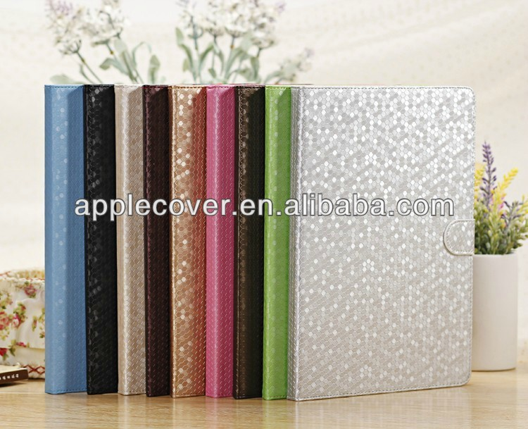 Luxury diamond design for ipad 5 leather case