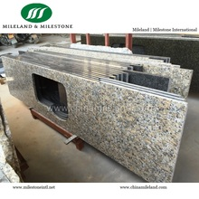 Yellow Butterfly prefab Granite Kitchen Countertop