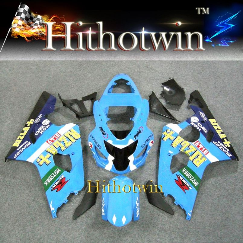 2004 2005 GSXR600/750 K4 For Suzuki GSXR600 GSXR750 2004 2005 motorex blue ABS Plastic Fairing Bodywork Set Kit k4 fairings