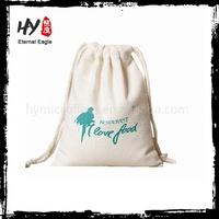 Customized deign cotton drawstring dust bag for shoe made in China