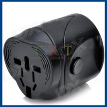 938L Universal Travelling Power Adapter w/ EU / US / UK / AU Plugs - Black (AC 100~240V)