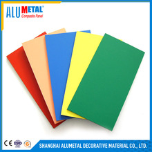 High strength brush Fireproof Aluminum Silver Plastic 3MM Sheets ACM ACP Composite Panel
