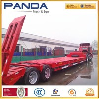 Pandamech 2axle 50T lowbed semitrailer bow bed semitrailer lowboy semitrailer with air suspension or mechinical suspension