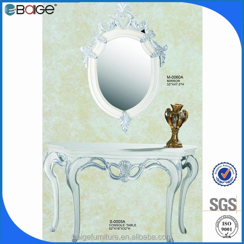 M-0060A Russian vintage bedroom furniture mirror plaster frame antique mirror consoles