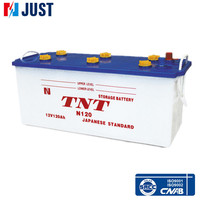 Wholesale supplier 12v 120Ah all kinds of dry charged car battery