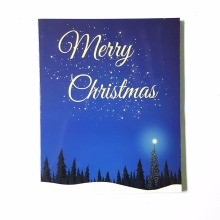 cheap led ight christmas paper handmade photo picture frame for christmas