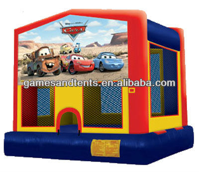 2012 PVC kids cars theme art panel inflatables A2006