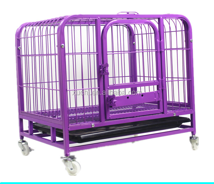 iron dog cage with universal wheels