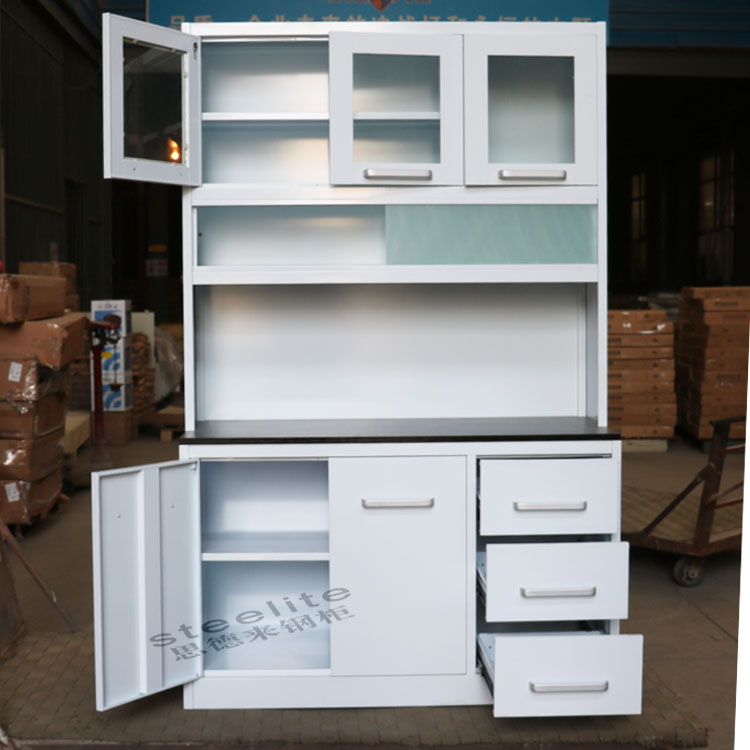 white metal kitchen cabinets(removable) mini kitchen cabinet