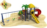 Kids Plastic Slide & Swing Play Sets for Home
