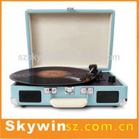 Portable Suitcase Turntable Record Player with Turntable MP3 CD Player
