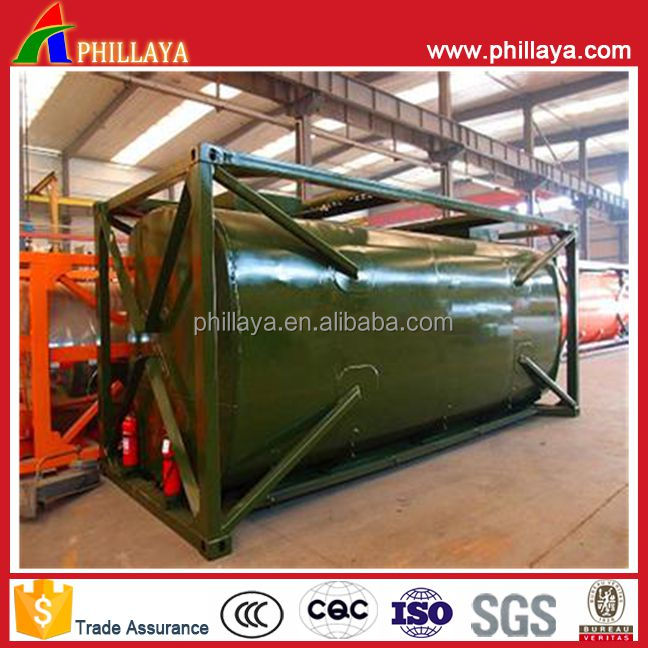 Chemical Liquid Storage Tanker Sulfuric Acid Container Tank With Volume Customized