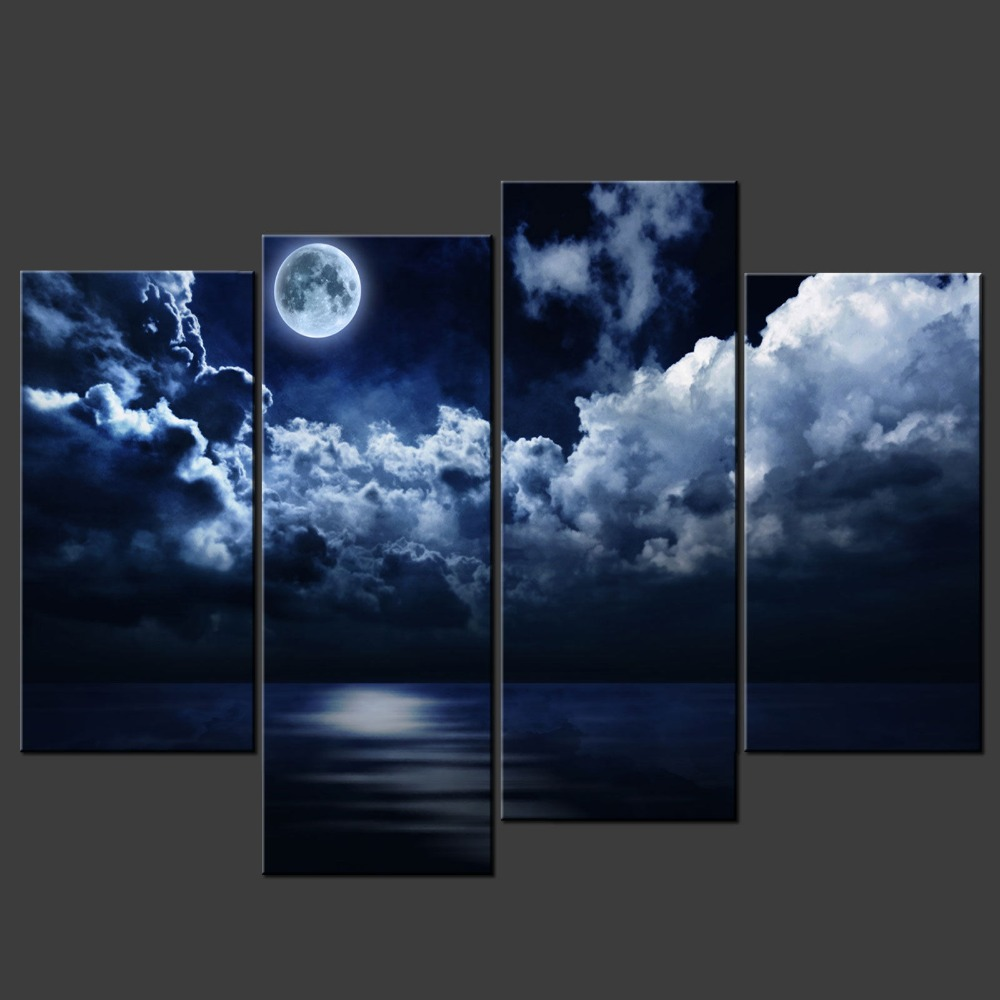 Custom unframed good quality natural scenery photograph art canvas prints