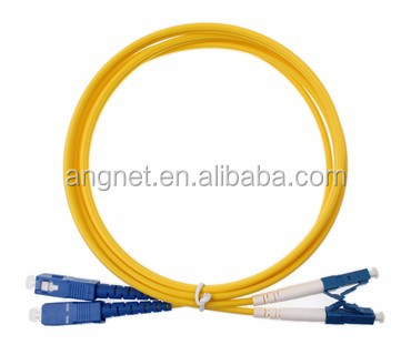 LSZH 3.0mm Duplex Single Mode Fiber Opitc SC/UPC-LC/UPC Patch Cable