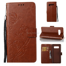 High quality embossed pattern wallet leather flip cover cell phone case for Samsung Galaxy Note8