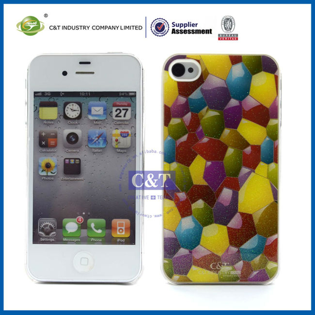 GlitterFlex cell phone showkoo case For Iphone4 4s