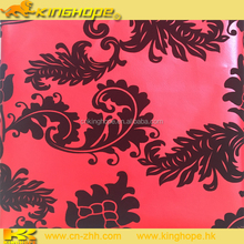 Excellent emboss flower PU/PVC soft artificial Leather for notebook cover,bags,shoes,car seat