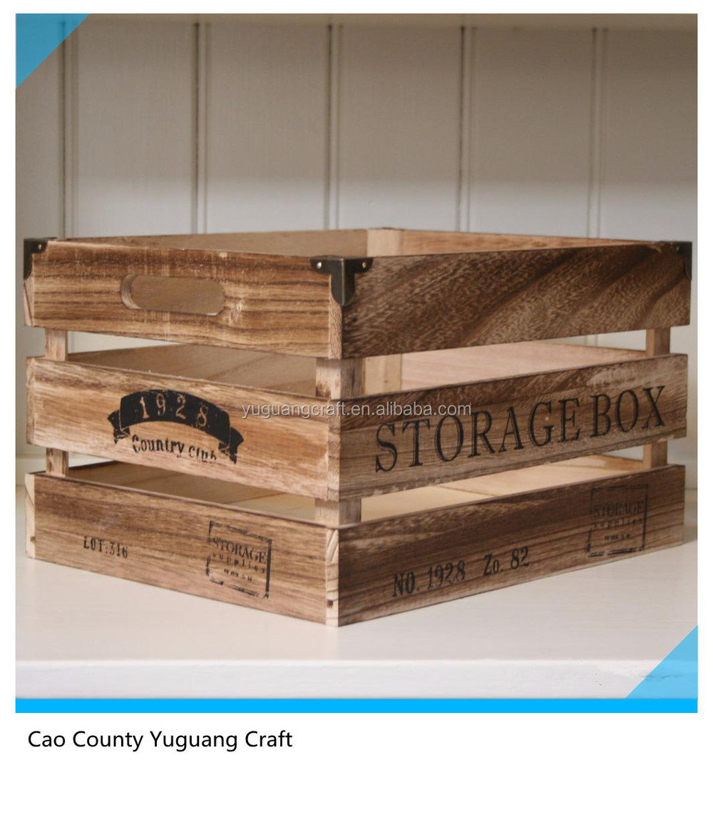 New vintage Style Wholesale Cheap Wooden Fruit / Crates For Sale