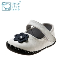 2016 littlebluelamb infant soft leather baby shoes toddler shoe with fashion design BB-A3102-WH