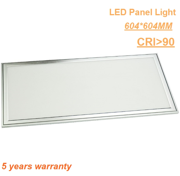 Silver color high performance IP44 indoor lighting 600x600 DALI dimmable led panel 30W