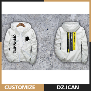 OEM Service Cheap Zip Up White Polyester Custom Hoodies With SGS