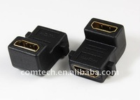 HDMI female to HDMI female panle adaptor,90 angle type