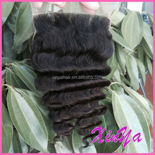 Direct Hair Factory Deep wave Virgin Indian closure hair extensions