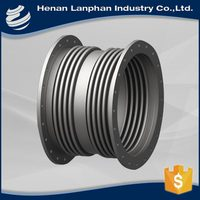 safety single sphere ductile iron expansion joint with tie rod