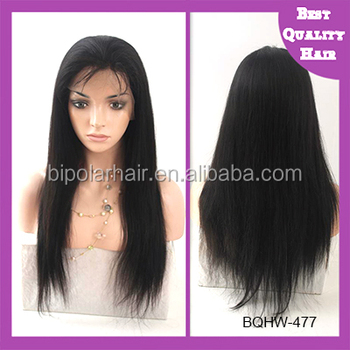 Chinese Remy Hair Natural Color Natural Wave Silk Base Full Lace Wig