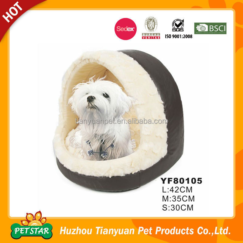 2017 New PU Leather Fabric Memory Foam Dog Bed Luxury