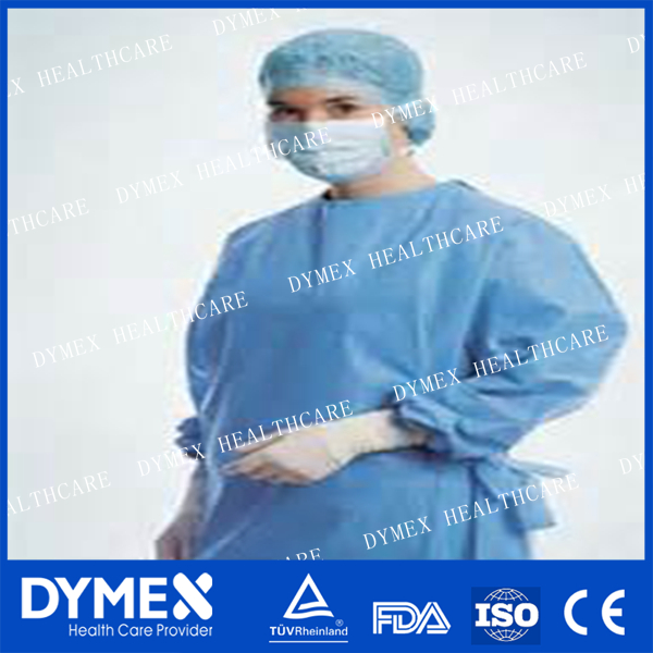 Sterile surgical gown Operation Sterilized Clothes medical surgical gown with sleeve white surgical gown with cap
