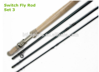 High module carbon double handle switch fly rod