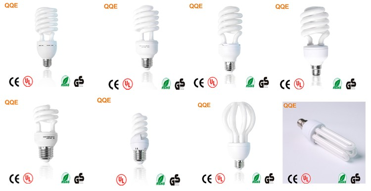 2018 China manufacture 220v tri-pohsphor 5w half spiral energy saving lamps cfl bulb parts