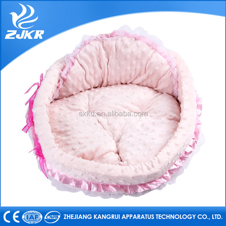 high quality pink round soft cat and dog mat