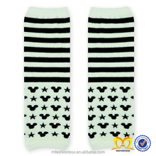 Toddlers Black And White Cotton Leg Warmer Stylish Stripes And Heart Legwarmer Baby Leg Warmers Wholesale