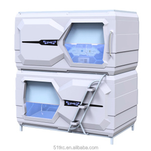 M-811Horizontal Curtain type Capsule Hotel Bed Sleep Capsule