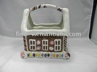 Ceramic candy container, Christmas jar