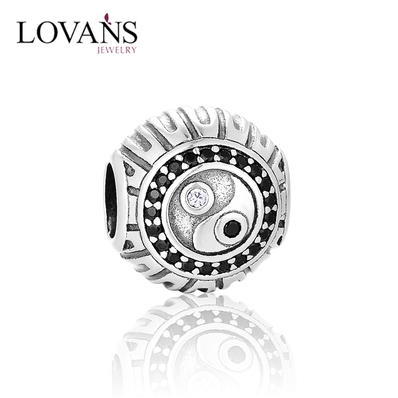 Chinese Traditional Style 925 Sterling Silver Cz Micro Pave Beads