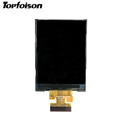 supplier 2.4 inch qvga tft lcd display 240X320 MCU/RGB with capacitive or resistive touch for handheld equipment