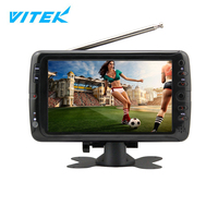 VTEX 7 9 10 inch OEM Portable ATSC Digital TV Radio,Rechargeable Small Size Television,12V DC LCD TV